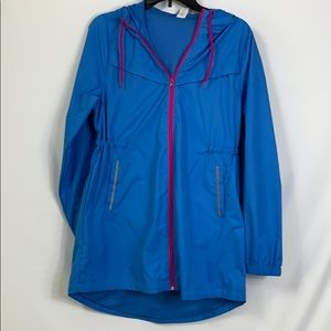 NWT Xersion blue full zip jacket size Sm. Hooded